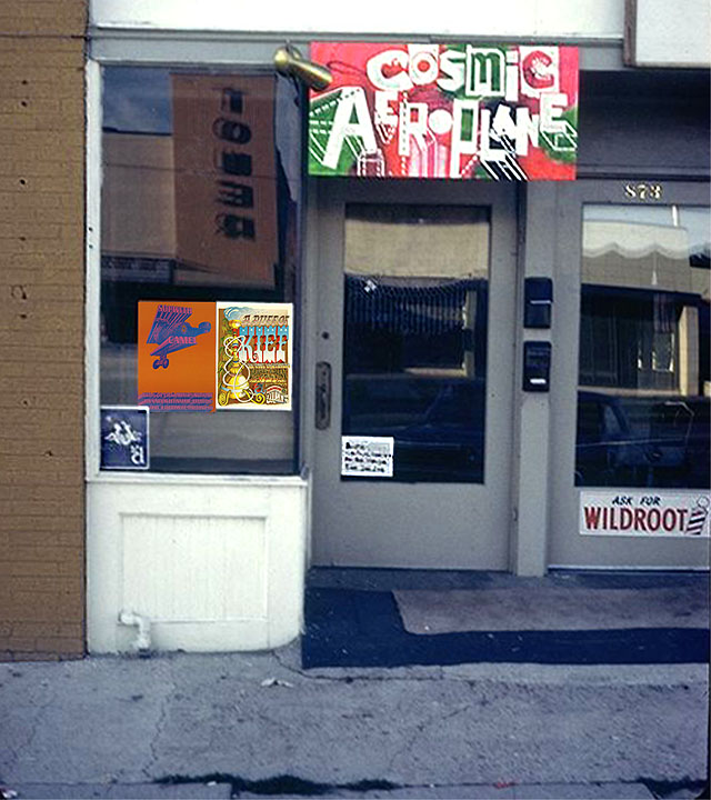 The Cosmic Aeroplane at 851 East Ninth South -- Scan from a 35mm slide, courtesy of Sherm Clow.
